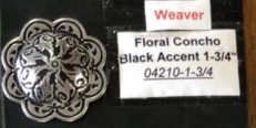 06 Floral Concho Black Accent